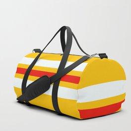 Naotsune - Classic Retro Stripes on Yellow Duffle Bag