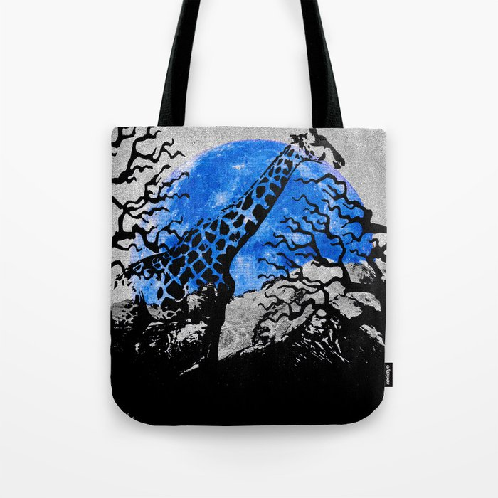 GIRAFFE IN A THICKET Tote Bag