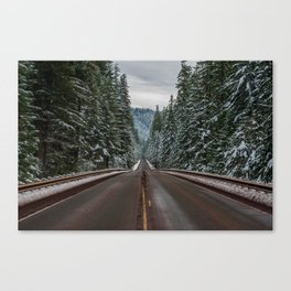 Winter Road Trip - Pacific Northwest Nature Photography Canvas Print