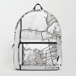 Guayaquil Light City Map Backpack