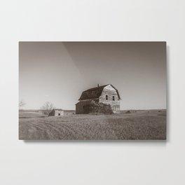 Barn House, Wells County, North Dakota 12 Metal Print