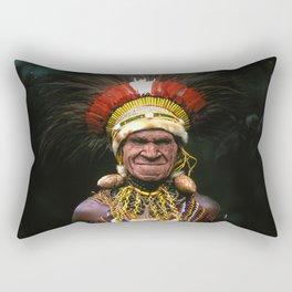 Papua New Guinea Chief's Headdress Rectangular Pillow