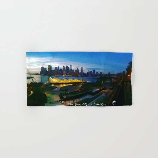 New York City as viewed from the Beautiful Brooklyn Heights Hand & Bath Towel