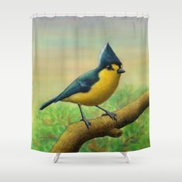 Yellow Tit Shower Curtain