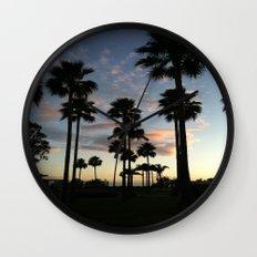 santa barbara sky Wall Clock