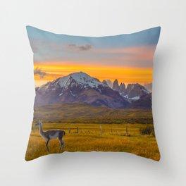 Patagonia Sunset Photo Throw Pillow