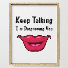 Slp Speech Language Pathology Gifts Serving Tray