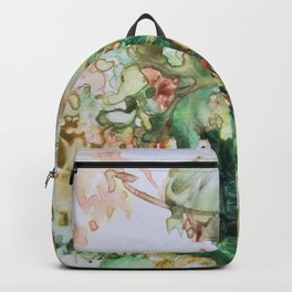 Autumn Branch Watercolor Monoprint Backpack