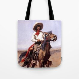 "Frederic Remington Western Art ""A Regimental Scout"" Tote Bag"