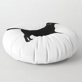 Black Labrador Retriever Silhouette #society6 #decor #buyart #artprint Floor Pillow