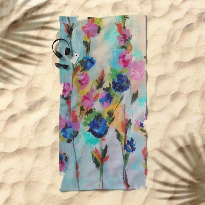 Flowers 3 Beach Towel
