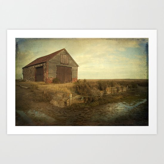 Coal Shed, Thornham, Norfolk Art Print