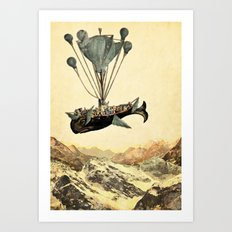 whale flight I Art Print