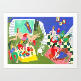Weekend Getaway Art Print