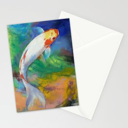 Koi Art Pirouette Stationery Cards