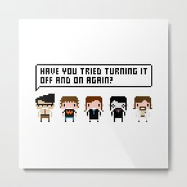 The IT Crowd Characters Metal Print