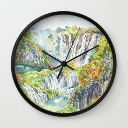 Waterfall Valley Wall Clock