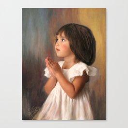 Precious child praying Canvas Print