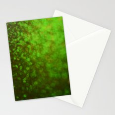 Big Green Bokeh Stationery Cards