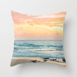 Honolulu Snrse Throw Pillow
