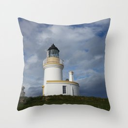 Chanonry Point Lighthouse, near Rosemarkie, Scotland Throw Pillow