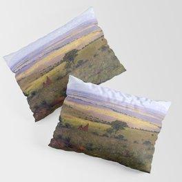 Athi Plains, Mount Kenya, Kenya, Africa Landscape by William R. Leigh Pillow Sham