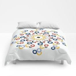 Mondriaan Mandala Comforters