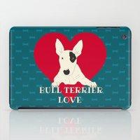 bull terrier iPad Cases featuring Bull Terrier Love by ShaMiLa