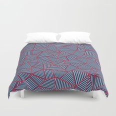 Ab Out Navy Red Duvet Cover