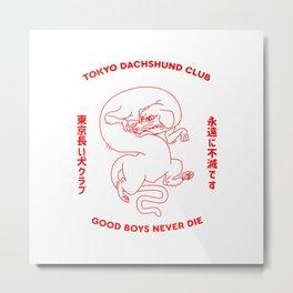 Tokyo Dachshund club Metal Print