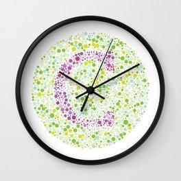 """C"" Eye Test Letter Circle Wall Clock"