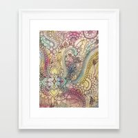 zentangle Framed Art Prints featuring ZenTangle by abDesigns
