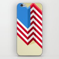 flag iPhone & iPod Skins featuring Flag by Ryan Winters