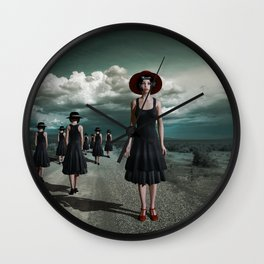 Road of girls Wall Clock