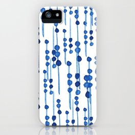 Indigo Blossom  iPhone Case
