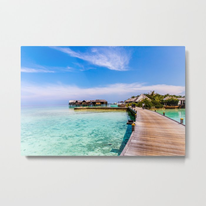 To My Bungalow in the Maldives Metal Print
