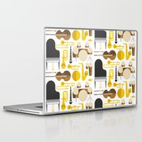 mortal instruments Laptop & iPad Skins featuring Jazz instruments by Ana Linea
