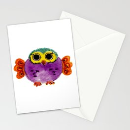 Chouette colorée Stationery Cards