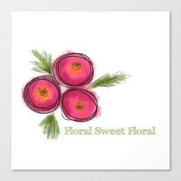 Floral Sweet Floral Canvas Print
