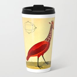 Bird Giraffe Metal Travel Mug