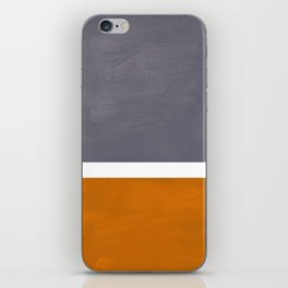 Grey Yellow Ochre Rothko Minimalist Mid Century Abstract Color Field Squares iPhone Skin