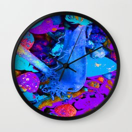Mermaids purse purple/violet/blue Wall Clock