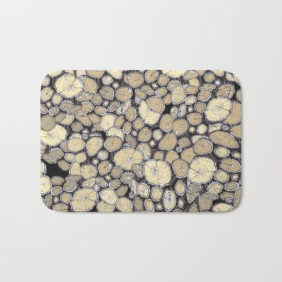 wood collab Bath Mat