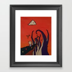Tentacle Attack Framed Art Print