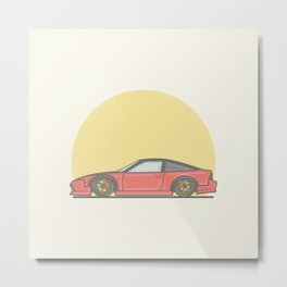 Nissan 200sx S13 vector illustration Metal Print