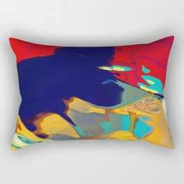 Vibrant shapes oozing out Rectangular Pillow