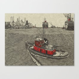 Morgan Tugboat, Hudson river, New York Canvas Print