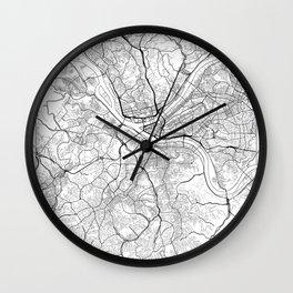 Pittsburgh Map White Wall Clock