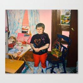 Self Portrait with Barbie, Age Seven Canvas Print