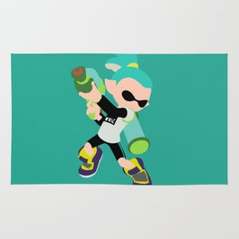 Inkling Boy (Aqua) - Splatoon Rug